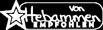 Logo von Hebammen empfohlen in negativ